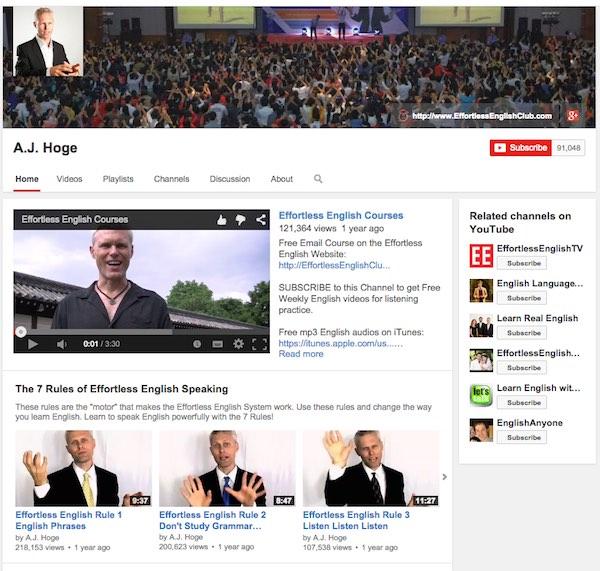 A.J. Hoge youtube channel
