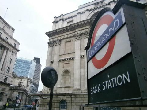 Bank Station, London Tube